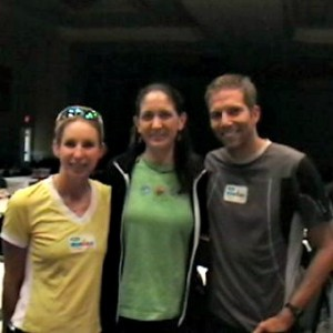 Joan meeting Paula & Mike at Ironman Florida