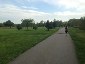 Running in Overpeck Park, NJ